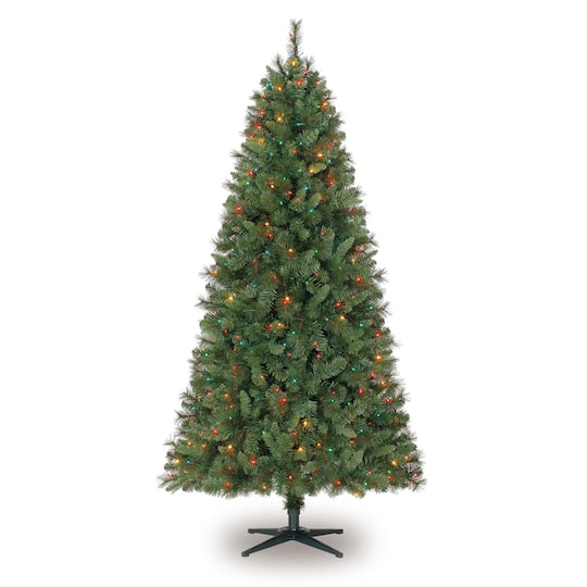 7ft. Pre-Lit Willow Pine Artificial Christmas Tree, Multicolor Lights by  Ashland™ - 7ft. Pre-Lit Willow Pine Artificial Christmas Tree, Multicolor