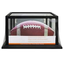 Black Football Display Case With Mirrored Back by Studio Décor®