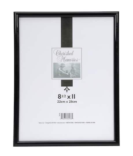 Tabletop Black Picture Frame 85 X 11 Inches