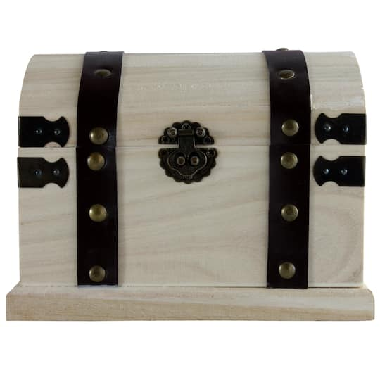 Artminds Wood Box With Metal Accents