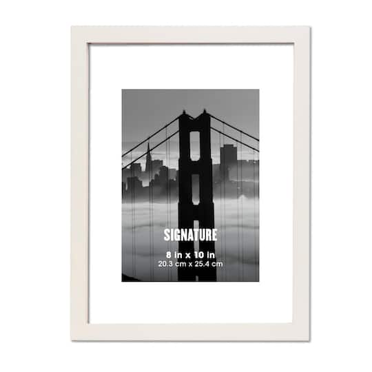 White Signature Frame by Aaron Brothers