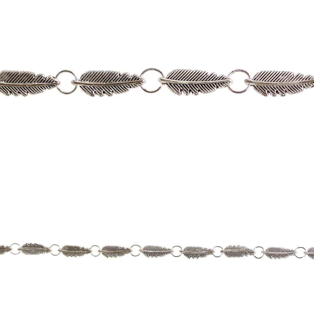 Metal Feather Personalized Photo Bracelet