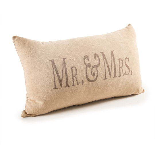 Darice Decorative Beige Mr And Mrs Throw Pillow Cool Michaels Decorative Pillows