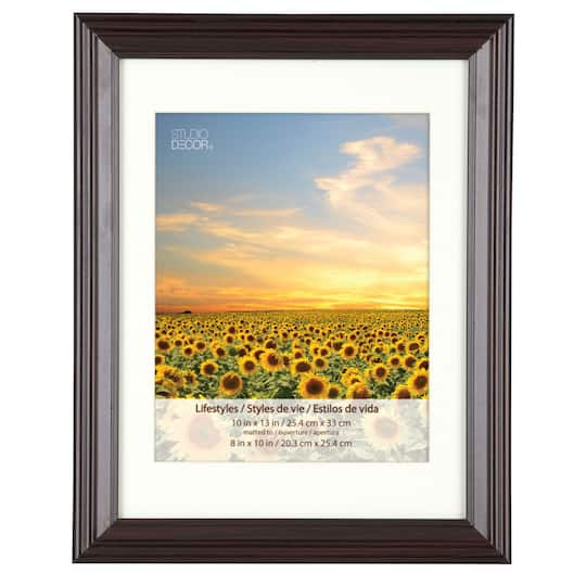 Black Cherry Frame With Mat Lifestyles By Studio Dcor