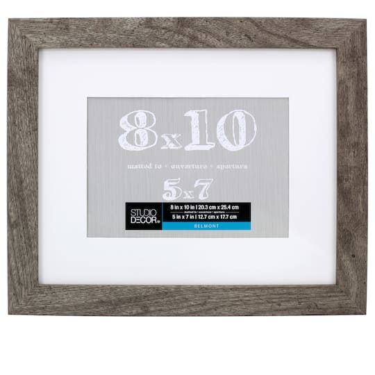 Gray Belmont Frame With Mat By Studio Décor