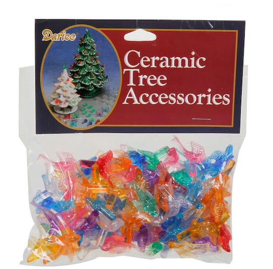 Replacement Ceramic Christmas Tree Lights Colored Bird Shaped 1 Inch