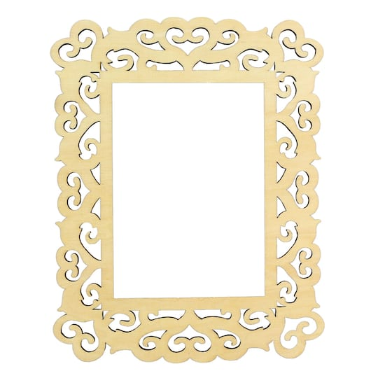 Artminds Wooden Laser Cut Frame Hearts 5 X 7