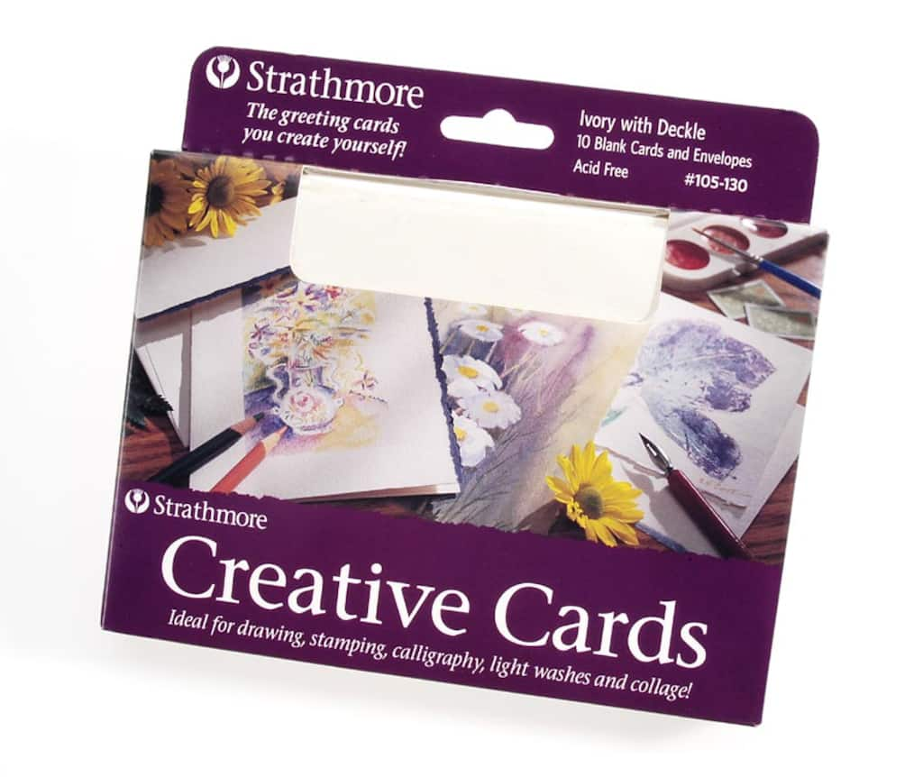 Strathmore Blank Greeting Cards Ivory Deckle 5 X 6875 Inches 10