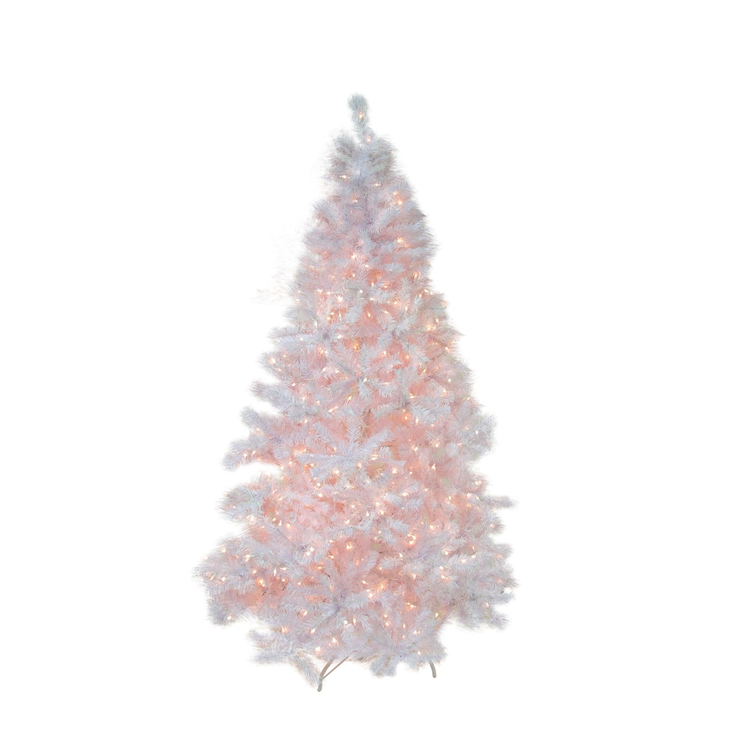 Pink Artificial Christmas Tree.7 5 Ft Pre Lit White Cedar Pine Artificial Christmas Tree Pink Lights