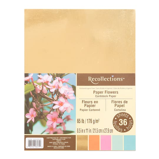 Paper Flowers Cardstock Paper By Recollections 8 5 X 11