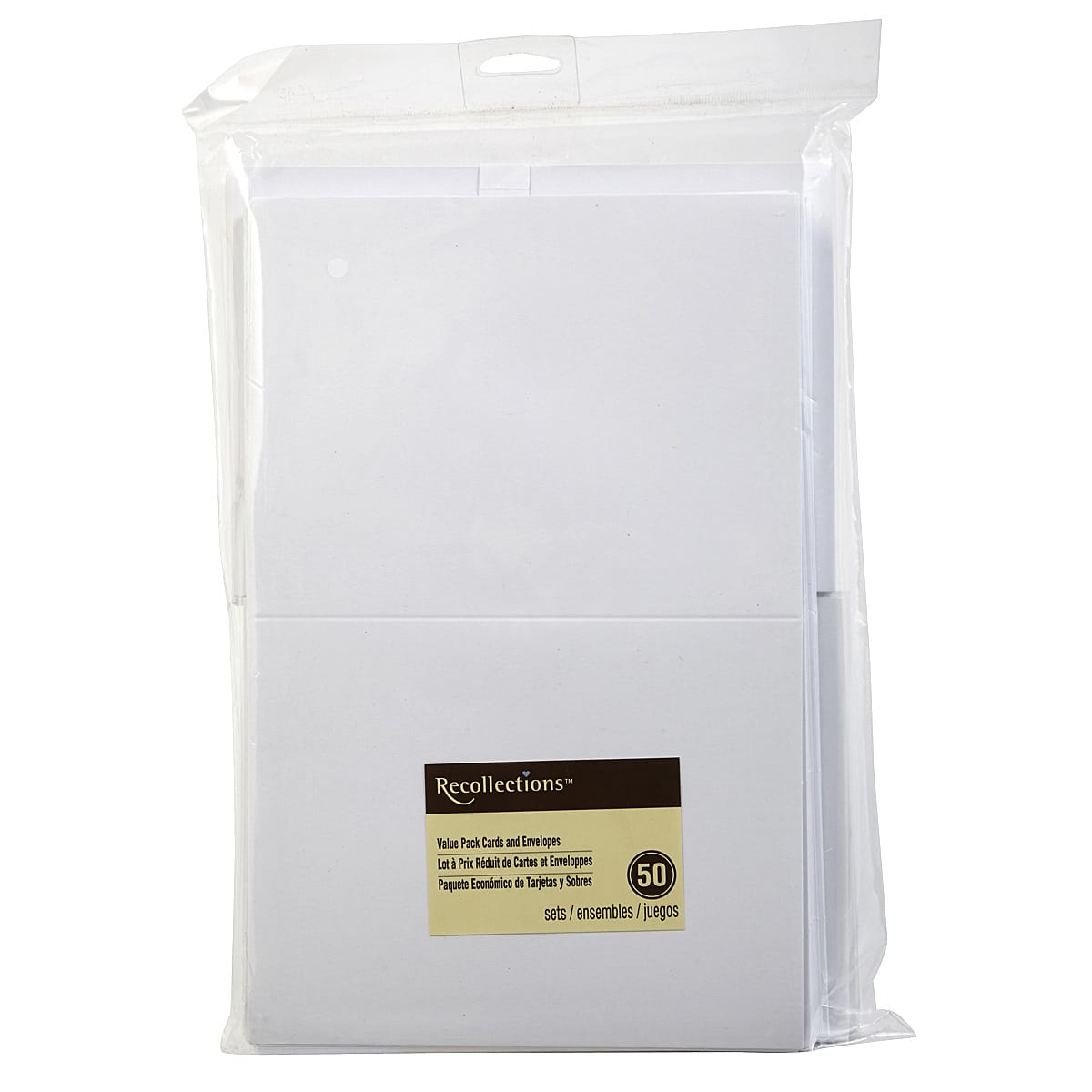 Canvas Corp Value Pack Cards and Envelopes 4 x 5.5-inch-Ivory