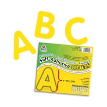 "4"" Self-Adhesive Letters, Yellow"