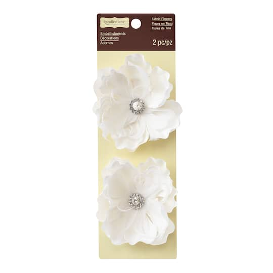 Shop for the white feather fabric flower embellishments by white feather fabric flower embellishments by recollections signature mightylinksfo