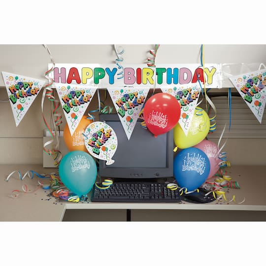 Happy Birthday Office Cubicle Decorating Kit