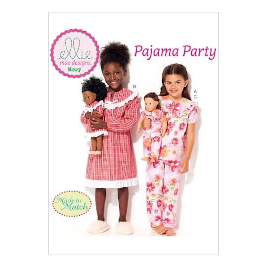 "Kwik Sew Pattern K0227 (XXS-XS-S-M-L) And 18"""" Doll"