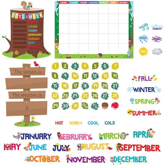 Woodland Friends Calendar Bulletin Board Set