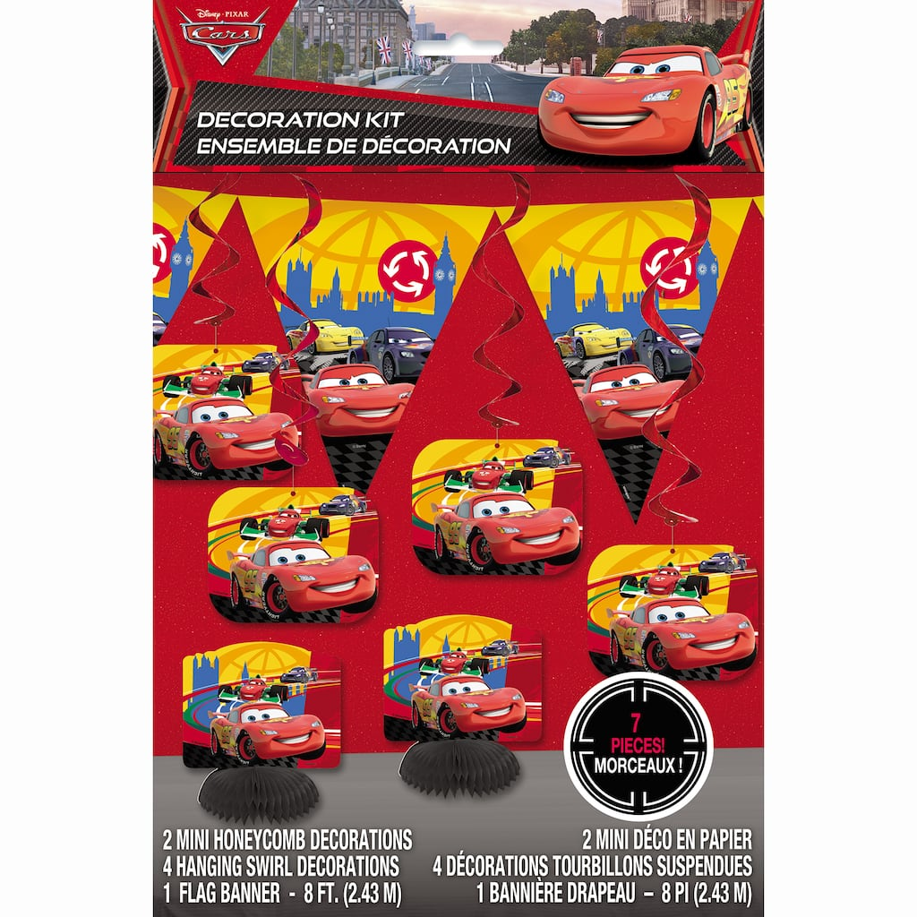 DisneyR Cars Party Decoration Kit 7pc Img