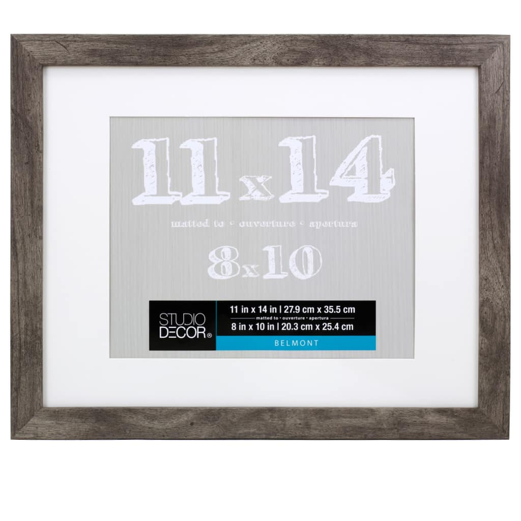 Gray Belmont Frame With Mat By Studio Décor®