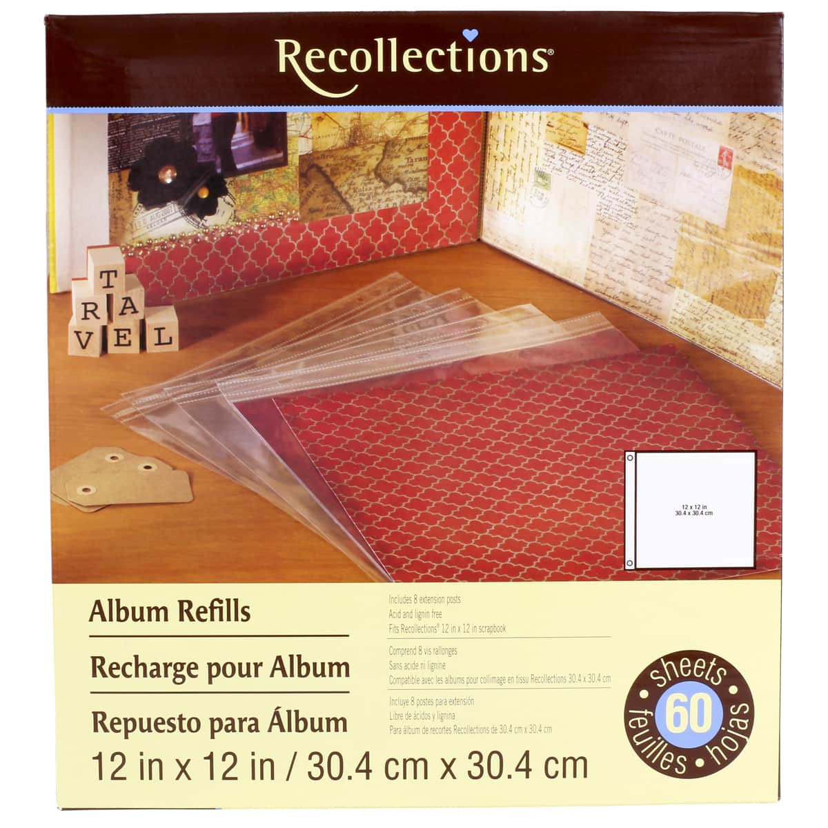 Recollections Scrapbook Album Refill Pages 8 X 8