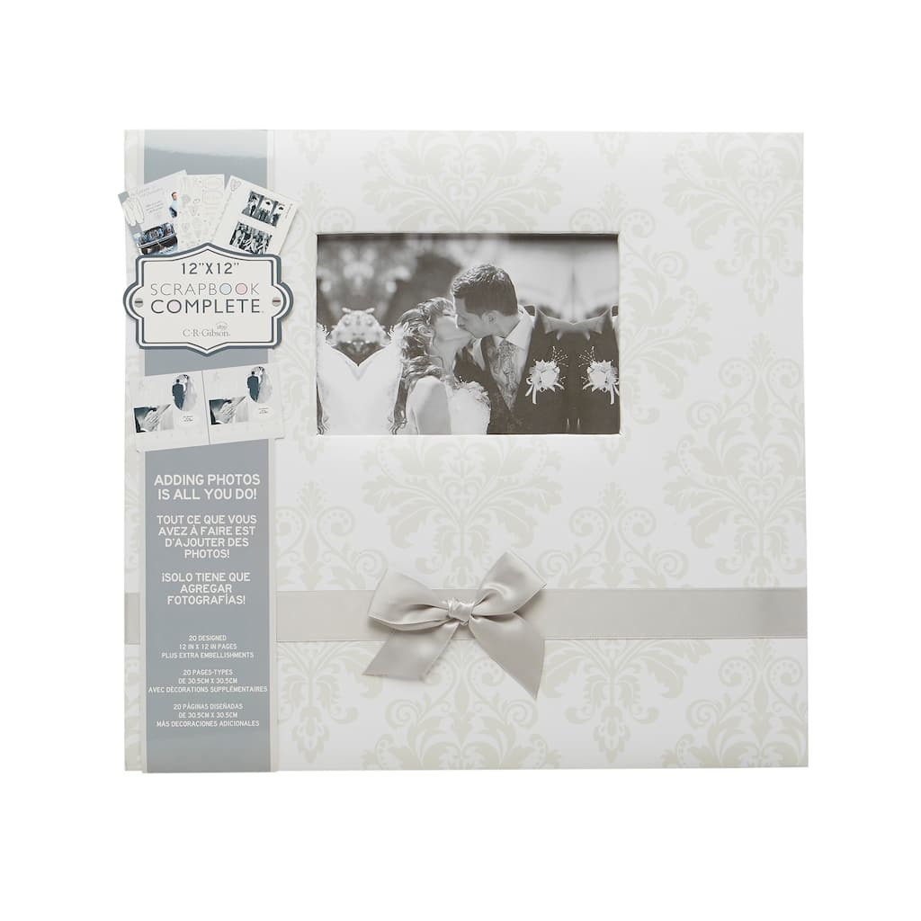 Find The Cr Gibson Wedding Damask Scrapbook At Michaels