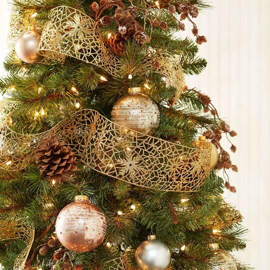 pre lit willow pine artificial christmas tree clear lights by ashland - Artificial Christmas Trees Prelit