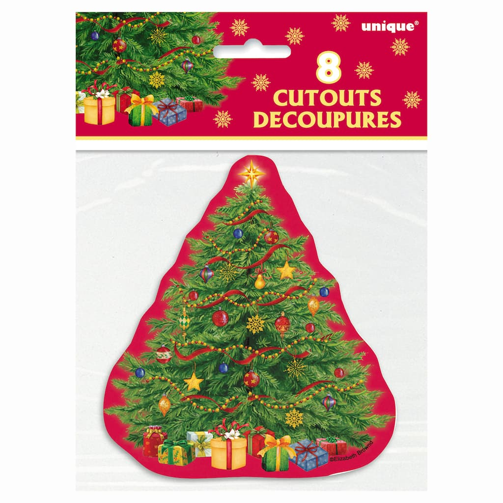 Christmas Tree Decorations Facebook: Starry Christmas Tree Cutout Decorations