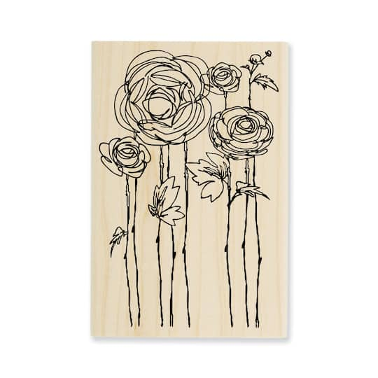 Find The StampendousR CFran Seiford Rubber Stamp Flower Fields At