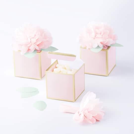 Wedding Favor Boxes.Martha Stewart Mint Blush Favor Boxes