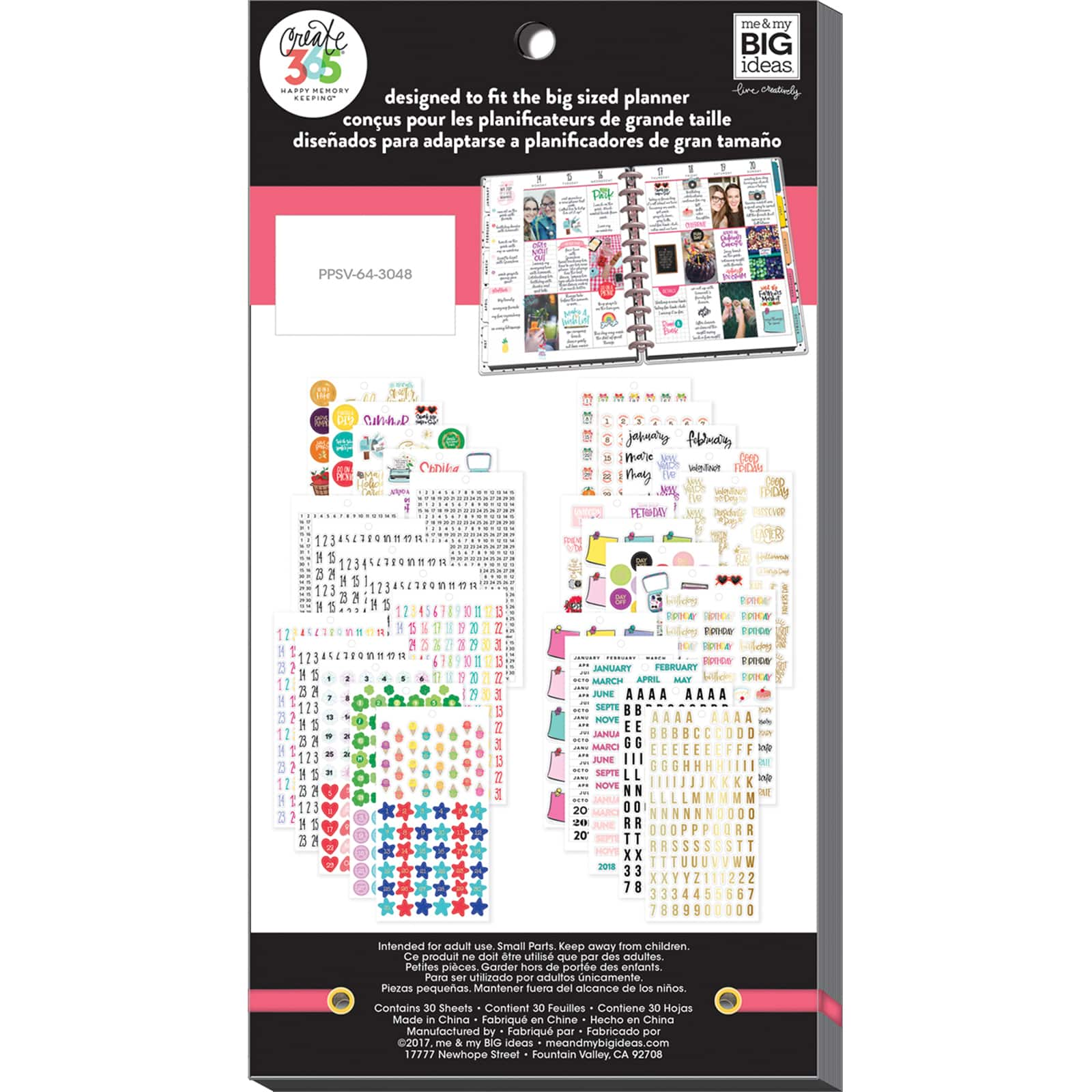 Create 365 The Happy Planner mamBi Value Pk Stickers MEMORY PLANNING BIG PPSV-15