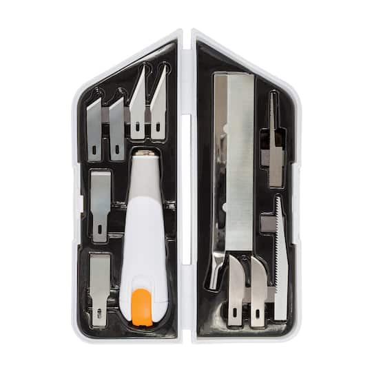 Fiskars 174 Heavy Duty Easy Change Detail Knife Set 11 Blades