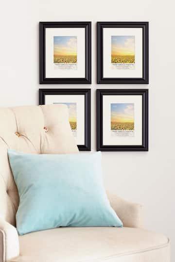 Find the MEGA PACK 4 Black Frames With Mat, 5\