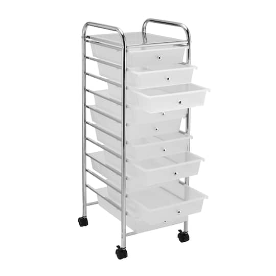 Purchase The Clear 10 Drawer Rolling Organizer By Recollections At