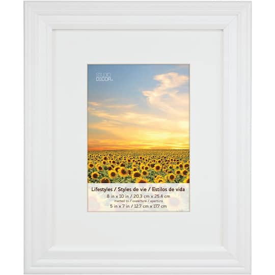 Buy the 4 White Frames With Mat, 5\