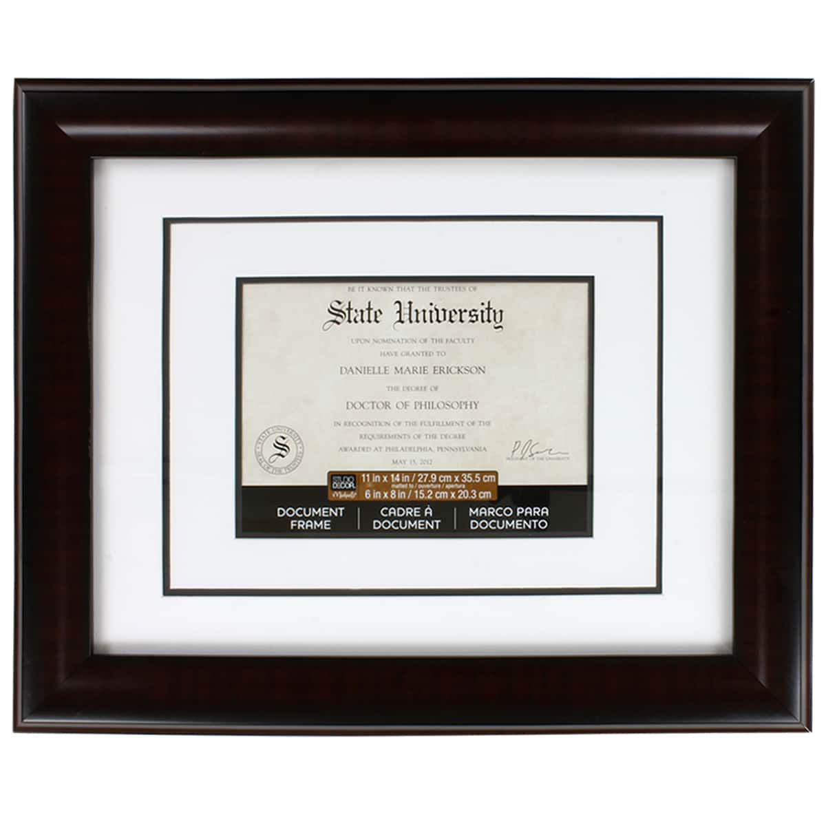 Double Custom Diploma Frames Certificate Frame Double Degree College Plaque Case