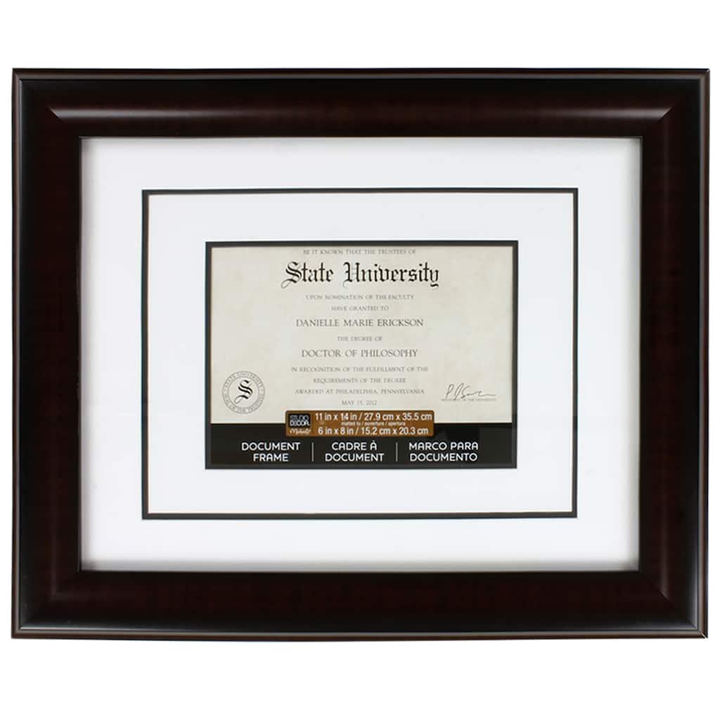 Mahogany Document Frame, 11\