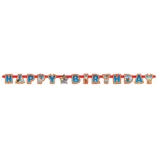 PAW Patrol Happy Birthday Letter Banner