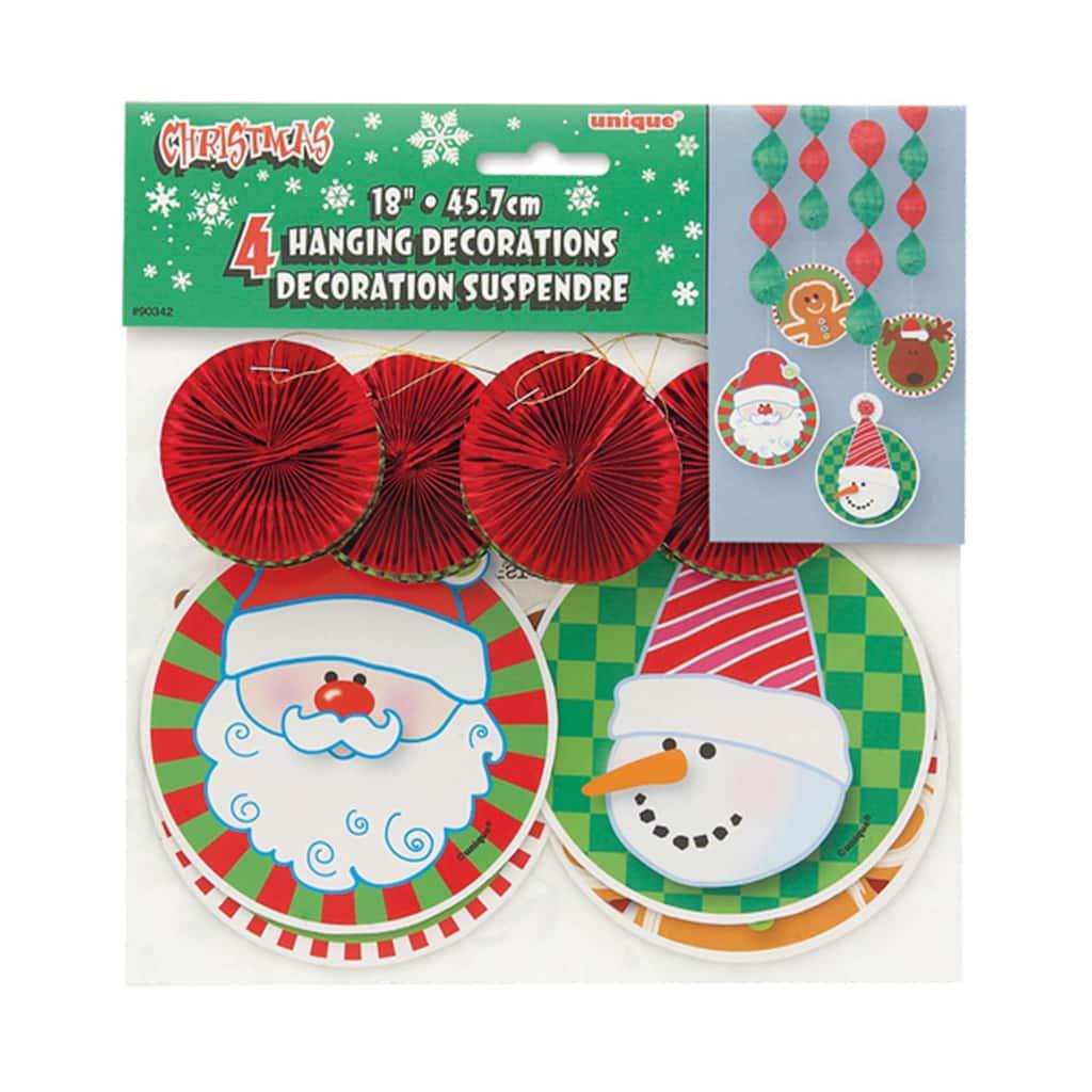 Hanging Christmas Decorations, 4ct. img