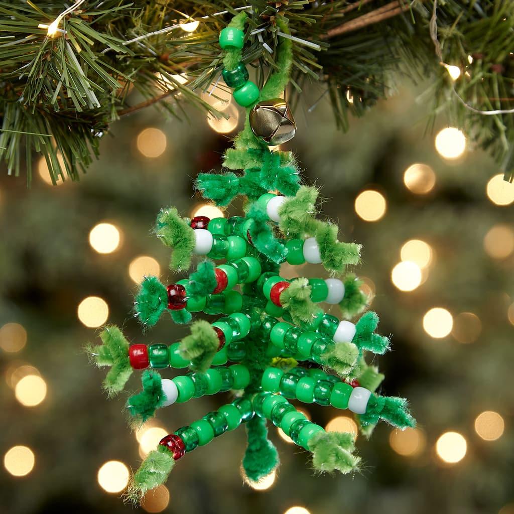 Beaded Chenille Stem Christmas Tree