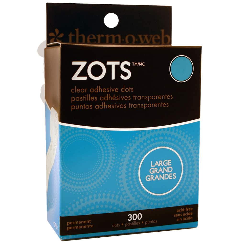 Therm O Web Zots Clear Adhesive Dots, Large