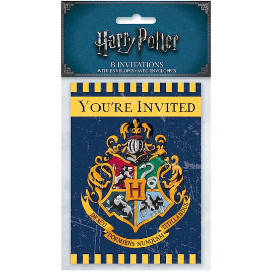 Harry Potter Invitations 8ct Img