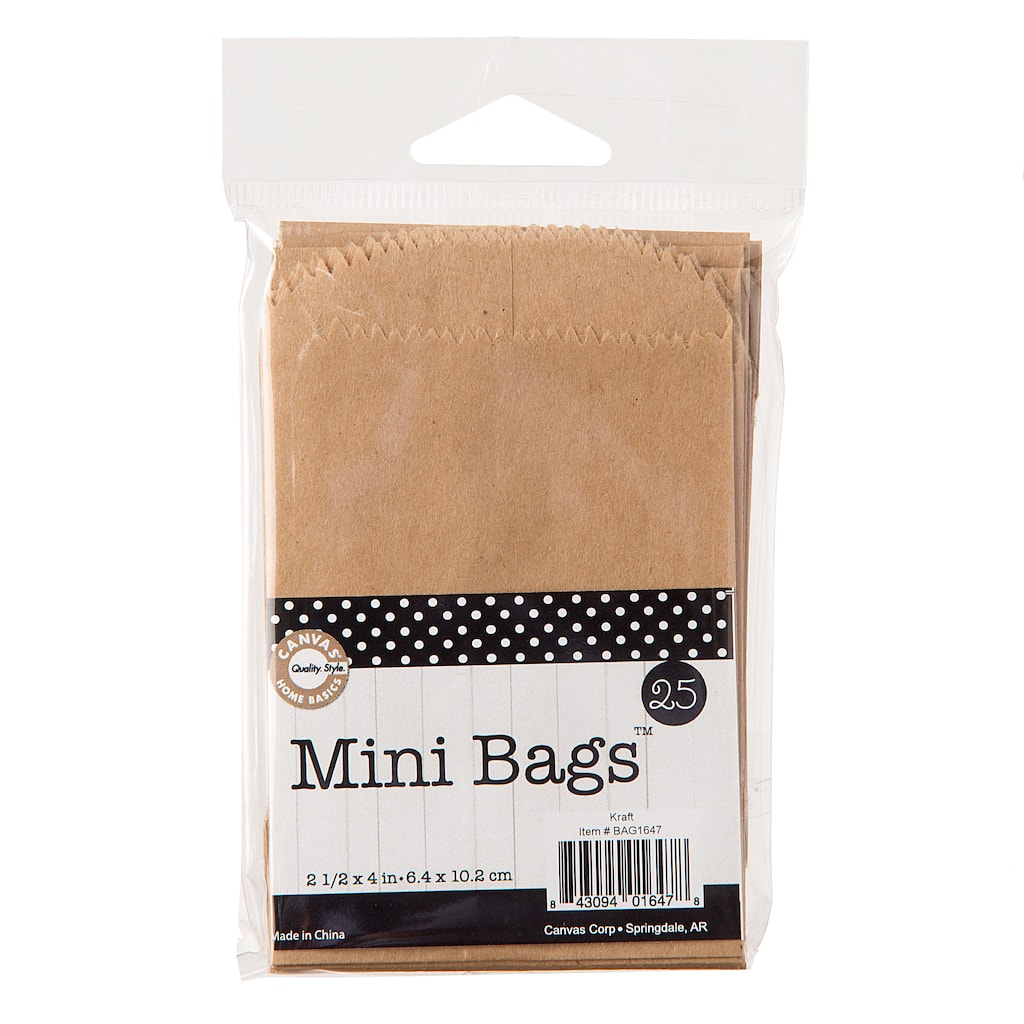 buy the canvas corp mini kraft paper bags 25 pack at michaels