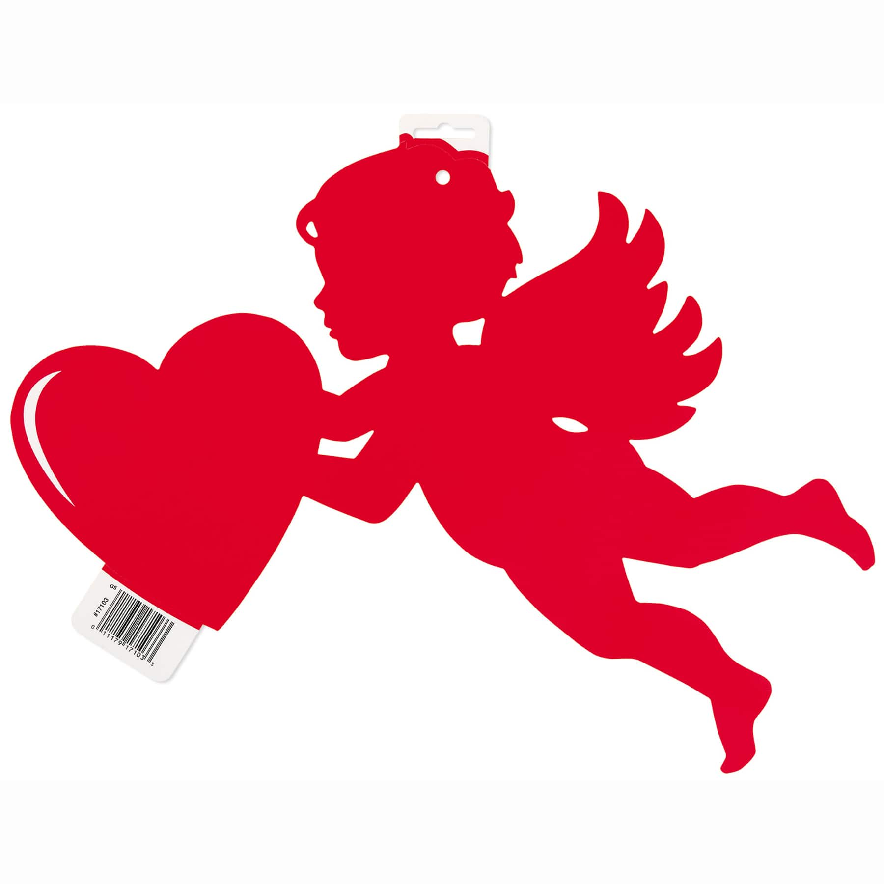 Happy Valentine/'s Day Door Cover Hanging Decoration Cupid Arrow Red Hearts Party