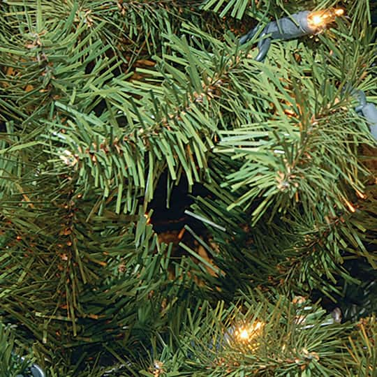 7.5 ft. Pre-lit Hinged North Valley Spruce Full Artificial ...