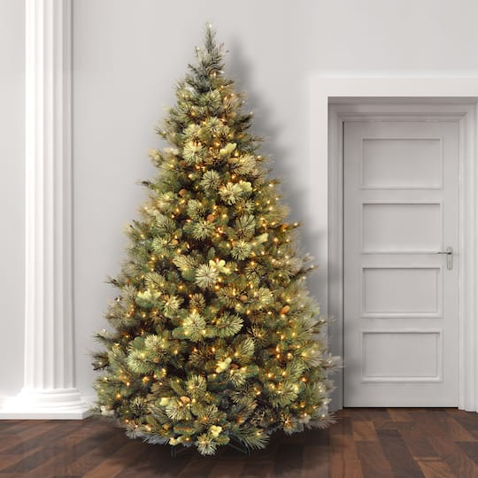 Christmas Trees Melbourne: 7.5 Ft. Pre-lit Hinged Carolina Pine Full Artificial