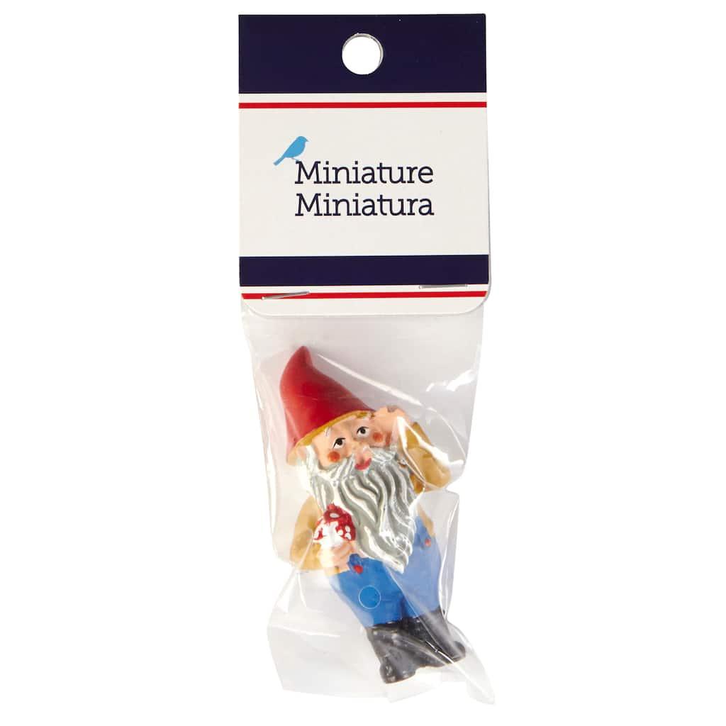 Gnome Garden: Sparrow Miniature Garden Gnome
