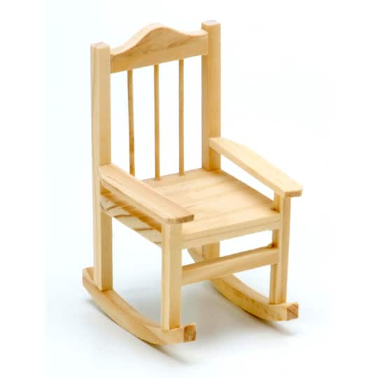 Unfinished Wood Miniature Rocking Chair