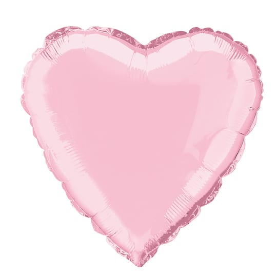 """18"""""""""""""""" Foil Light Pink Heart Balloon"""