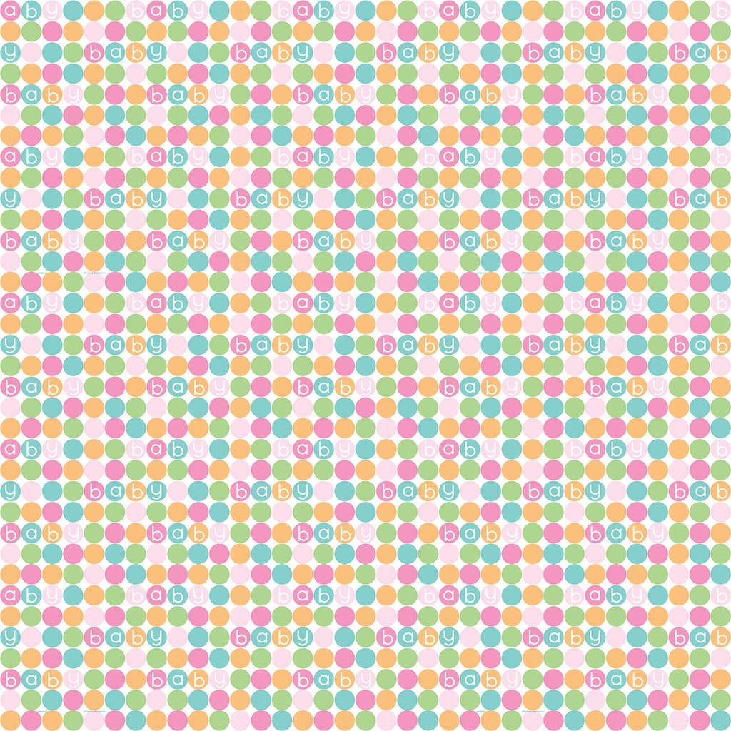 Pastel Baby Shower Wrapping Paper Baby Shower Gift Wrap