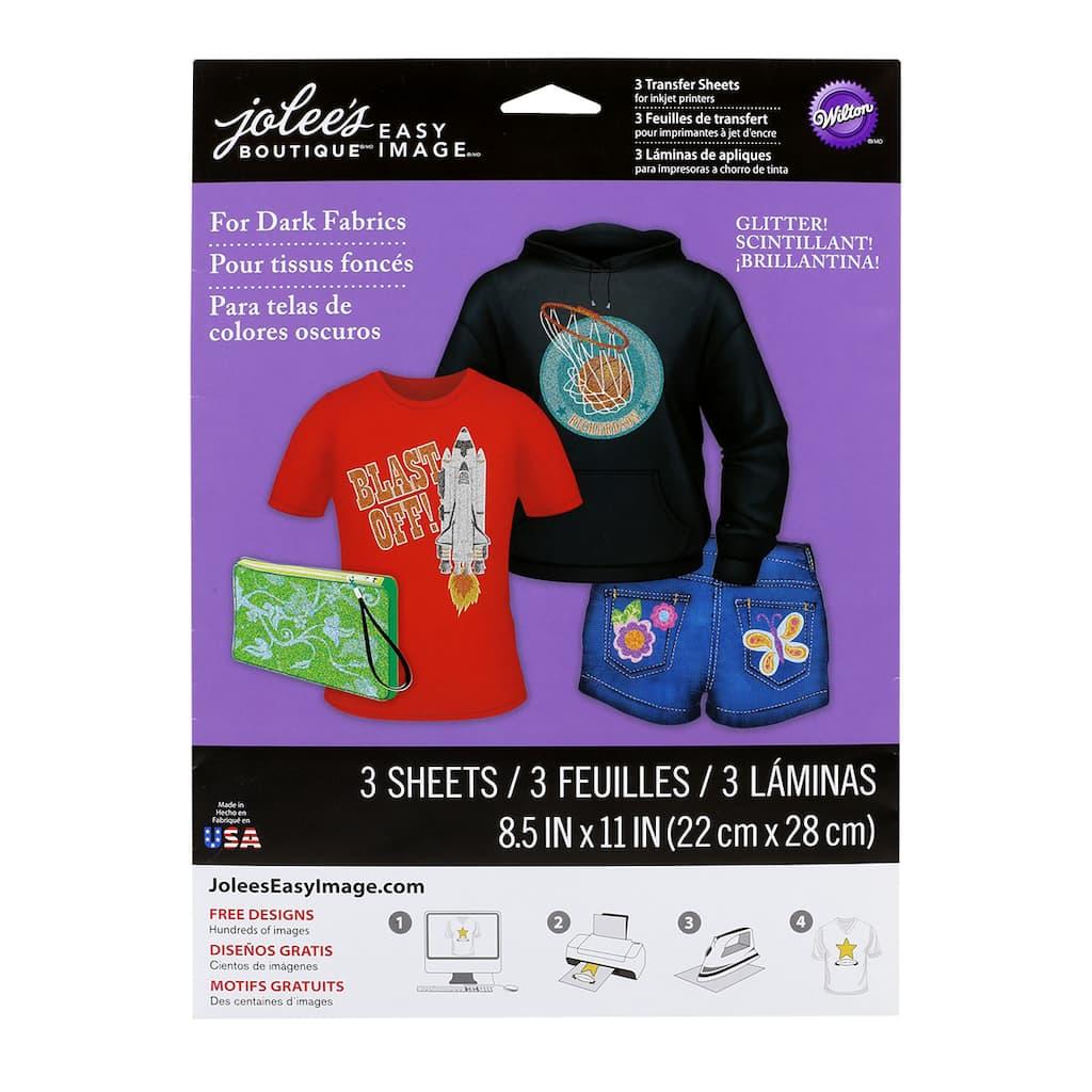 Jolees Boutique Easy Image Glitter Transfer Paper
