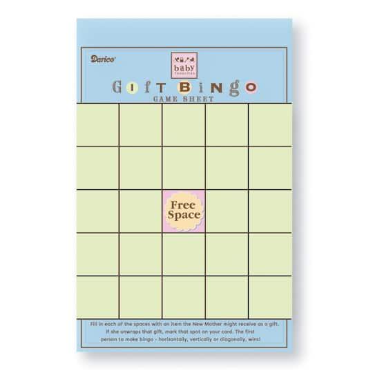 Baby Shower Bingo Game Sheets Pad 50 Sheets
